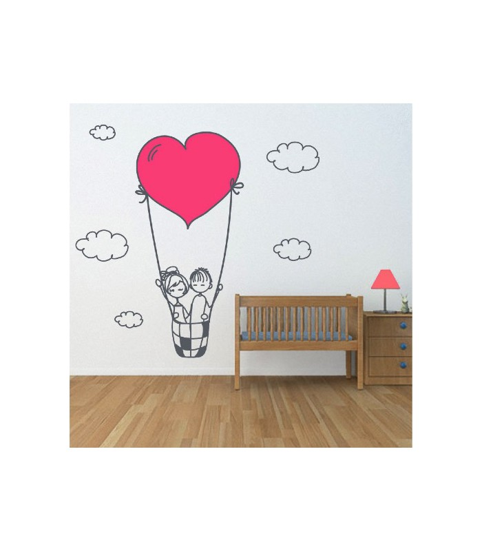 Vinilo decorativo Love in the sky