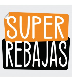 Cartel super rebajas 2